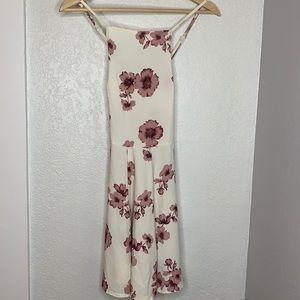 Brandy Melville white floral slip dress